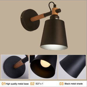 Modern White Metal Wooden Sconce Wall Lamp Lights for Reading pictures & photos