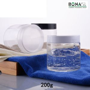 200ml Pet Clear Jar with Plastic Screw on Cap pictures & photos