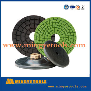 4 Inch Diamond Resin Polishing Pads for Marble and Granite Floor pictures & photos