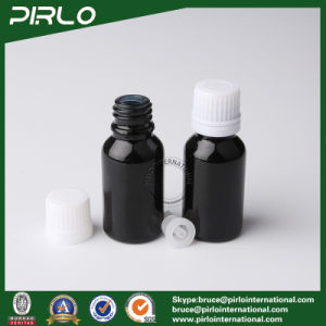 15ml Black Essential Oil Glass Bottles with White Screw Cap pictures & photos