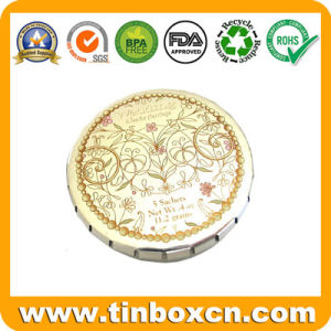Round Metal Tins for Mint Candy Gum Sweet Confectionary pictures & photos