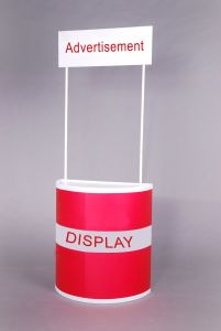 Semi-Round ABS Advertising Stand Promotion Counter (PM-02-C) pictures & photos