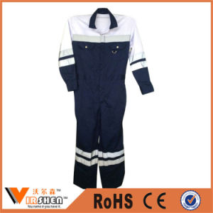 100% Cotton Reflective Workwear Coverall Fire Safety Clothing pictures & photos