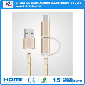 3 in 1 Portable Micro/Type-C/iPhone USB Charging Cable for Android/iPhone pictures & photos