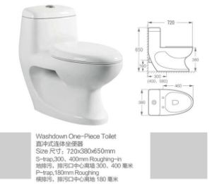Chaozhou Manufacturer Sanitary Ware S-Trap Bathroom Porcelain Toilet Bowl pictures & photos