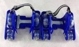 PVC Lighting 4 Wheels Adjustable Heels Roller Flashing Skates pictures & photos