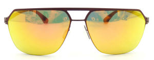 FM171256 Flat Top Nylon Lens with Mirror Good Quality Sunglasses pictures & photos