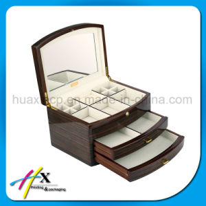 Custom Gloss Lacquered Wooden Jewelry Gift Box pictures & photos