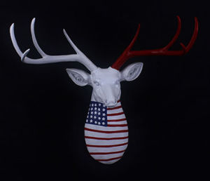 Resin Faux Deer Head Wall Mounted Decoration Animal Head for Wall Decor Wall Mounted Animal Figurines