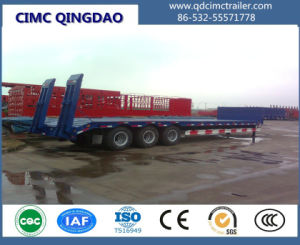 Cimc Tri- Axles 100 Ton Lowbed Semi Trailer Truck Chassis pictures & photos
