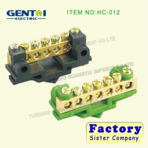 Good Quality Brass Screw Terminal Blocks with Earth Link pictures & photos