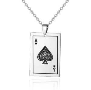 Palying Card Jewelry Stainless Steel Spades a Poker Necklace Pendant pictures & photos