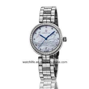 Fashion Diamond Quartz Stainless Steel Ladies Wrist Watch pictures & photos