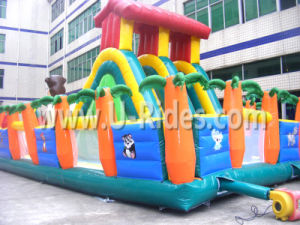 Gorilla Theme Inflatable Slide with Playground pictures & photos