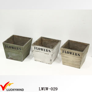 Mini Distressed Shabby Wood White Planter Box pictures & photos