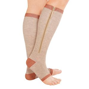 Copper Support Zip Socks Keep Blood Flow Circulating, Easing Aches and Pains