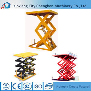 Scissor Lift Featured Shipping Container Lifting Equipment for Dock pictures & photos