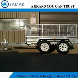 Galvanized Cargo Trailer with Cage pictures & photos