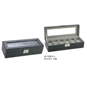 6PCS Watches Storage Brown Croco Leather Watch Storage Box Watch Box pictures & photos