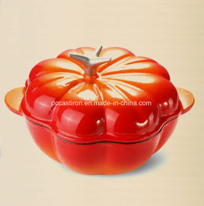 Enamel Cast Iron Pumpkin Casserole Pot Manufacturer From China pictures & photos