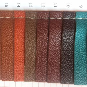 Synthetic Lychee PU Leather for Making Bags pictures & photos