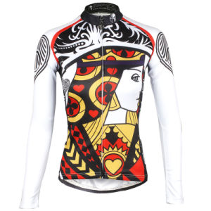 Women′s Long Sleeve Outdoor Sports Cycling Jersey Full Zip pictures & photos