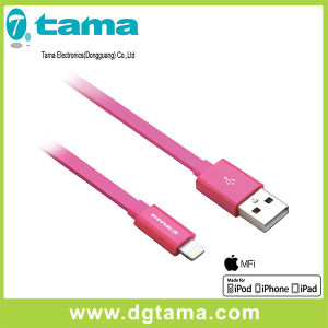 1.2m Pink Mfi USB Cable with Lightning Connector for iPhone iPad iPod pictures & photos