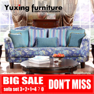 American Classic Fabric Sofa with Table Set for Living Room pictures & photos