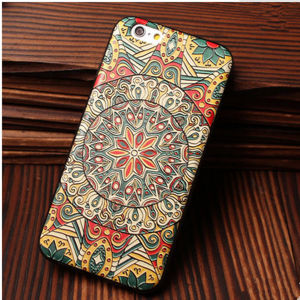 Hot Charm Design Fluorescence Aztec African Style Animals PC Plastic Cover Case for iPhone 6 pictures & photos