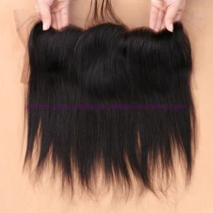 8A Peruvian Virgin Human Lace Frontal Closure Straight with Baby Hair Full Frontal Lace Closure 13X4 Frontals pictures & photos