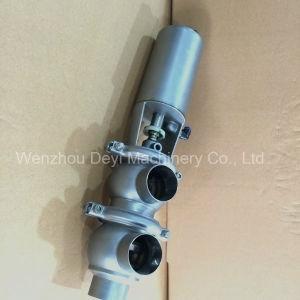 SS304 SS316L Pneumatic Flow Diversion Valve pictures & photos