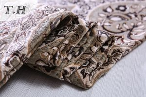 Upholstery Furniture Chenille Fabric Big Floral Jacquard Fabric for Sofa pictures & photos