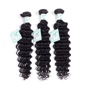 Deep Wave Peruvian Virgin Hair 100% Weave Human Hair Bundles Unprocessed Hair Extension Natural Color pictures & photos