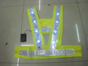 High Visibility Traffic Work Safety Vest with LED Lights pictures & photos