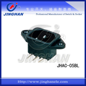 Jhac-05bl Professional Supplier Power Socket with Bent Terminal Chinese pictures & photos