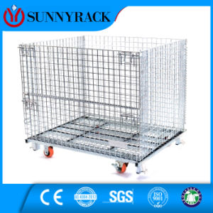 Casters Equipped Wire Mesh Container for Logistic Center pictures & photos