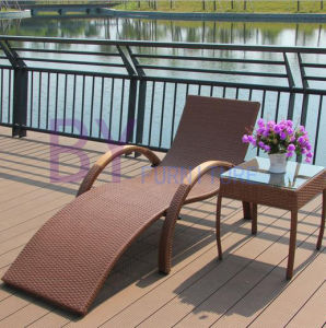 Outdoor PE Rattan Umbrella Leisure Hotel Garden Swimming Pool Beach Loungers pictures & photos