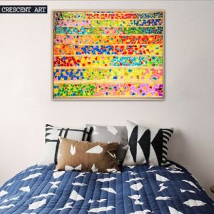 Colorful Abstract Oil Painting on Canvas with Frame pictures & photos