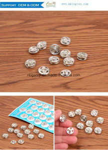 7mm, 8mm Press Stud Button Sew-in Button Metal Snap Button Factory Price pictures & photos