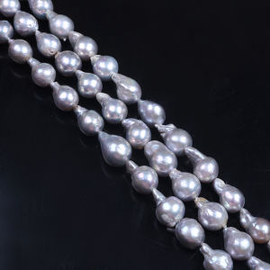 Dyed Color Gray Baroque Pearl Strand pictures & photos