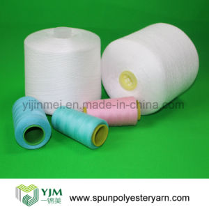 Raw White Ring Spun Polyester Sewing Thread 60s/3 pictures & photos