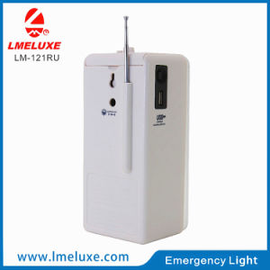 Rechargeable LED Emergency USB FM Radio Light pictures & photos
