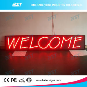 P10 Red Outdoor LED Moving Sign (Programmable) pictures & photos