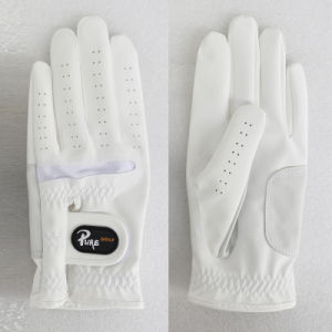 PU Synthetic Leather Golf Glove pictures & photos