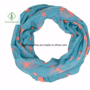 2017 Europe Viscose Star Printed Infinity Neck Warmers Fashion Scarf pictures & photos