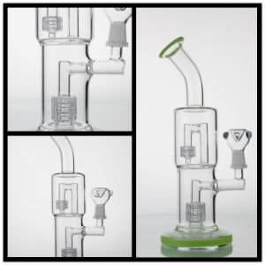 Glass Smoking Pipe Water Pipe with Two Percolator Like Bomb pictures & photos