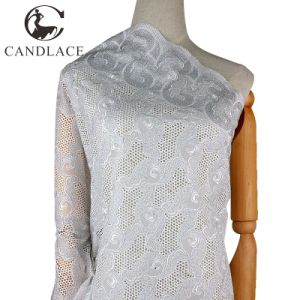 White Swiss Cotton Voile Lace for Wedding Dress pictures & photos