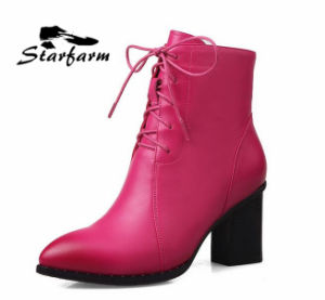 SD00077 Factory Custom Women Boots Shoes with Leather Upper