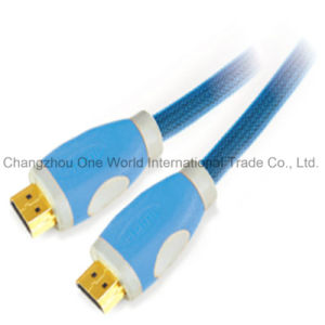 Two-Tone Hemp Rope HDMI 19pin Plug-Plug Cable for Cellphone Camcorders HDTV pictures & photos