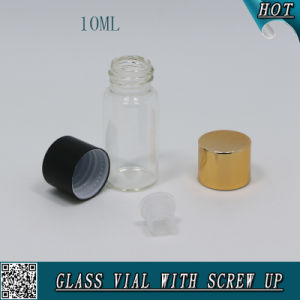 10ml Cylinder Shape Clear Glass Vial with Aluminum Screw Cap pictures & photos
